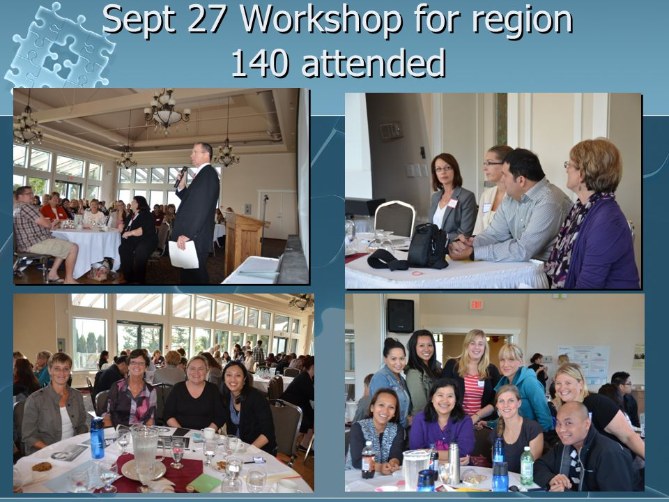 Sept 27 Workshop for region 140 attended
