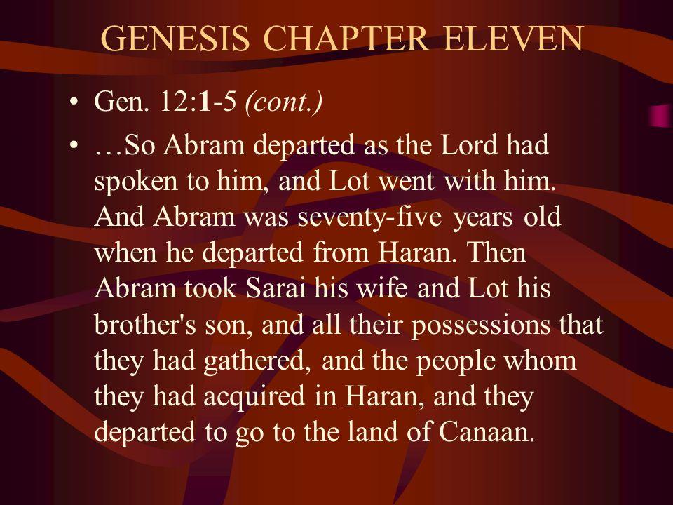 GENESIS CHAPTER ELEVEN Gen.
