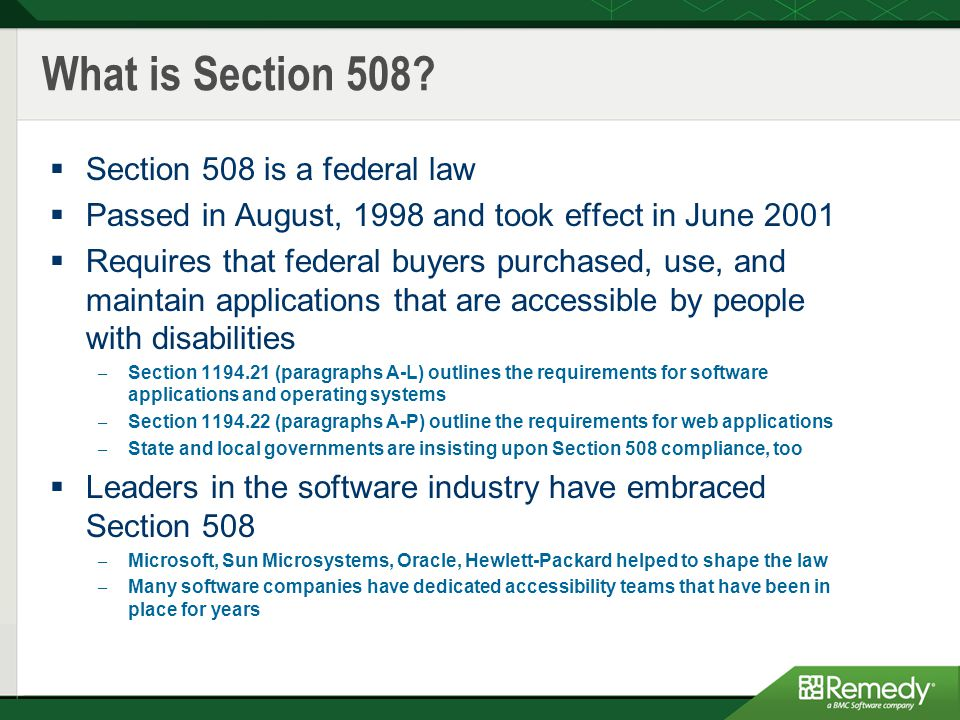 What is Section 508.