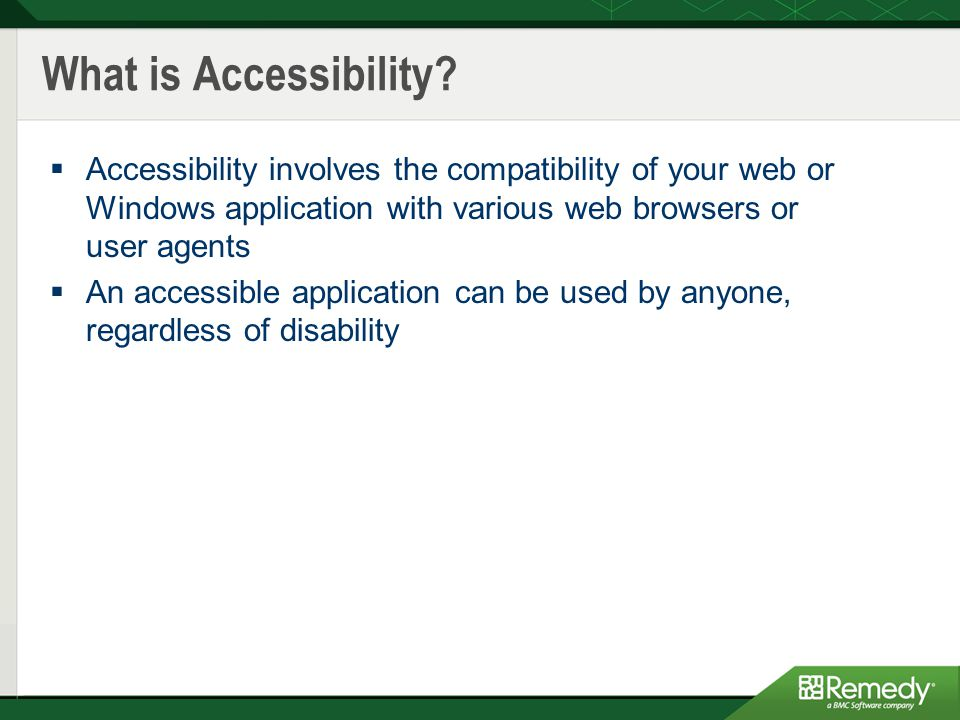 What is Accessibility.