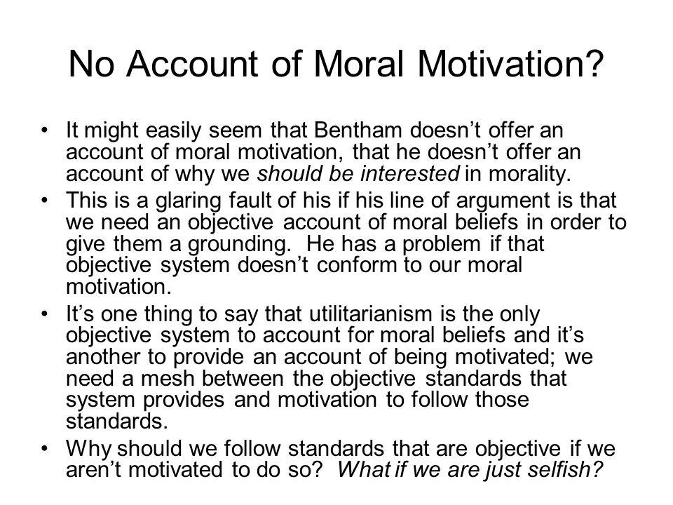 No Account of Moral Motivation.