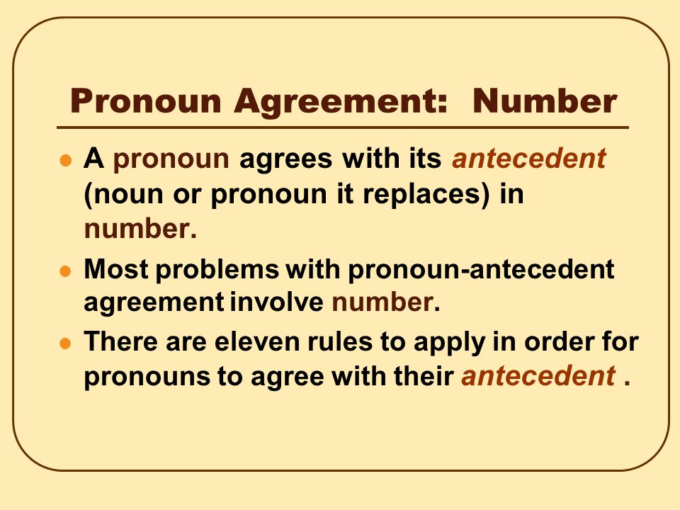 Pronoun Agreement: Person If you find that you hate your job, one should consider changing his or her profession.