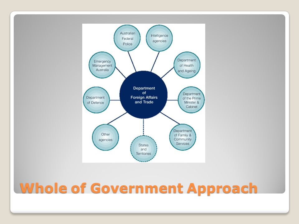 Whole of Government Approach