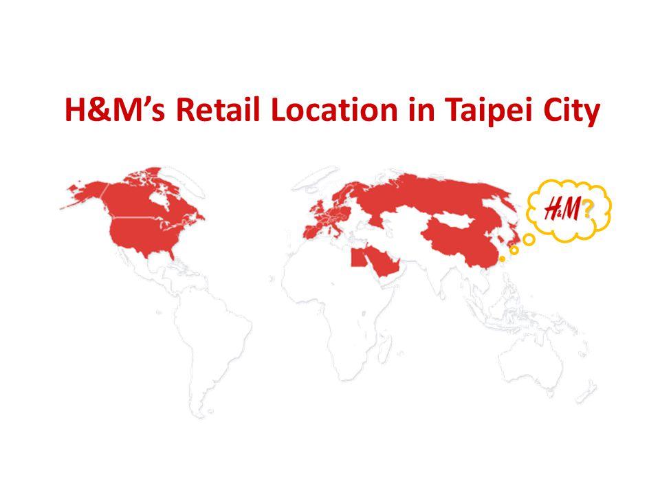 H&M's Retail Location in Taipei City ?