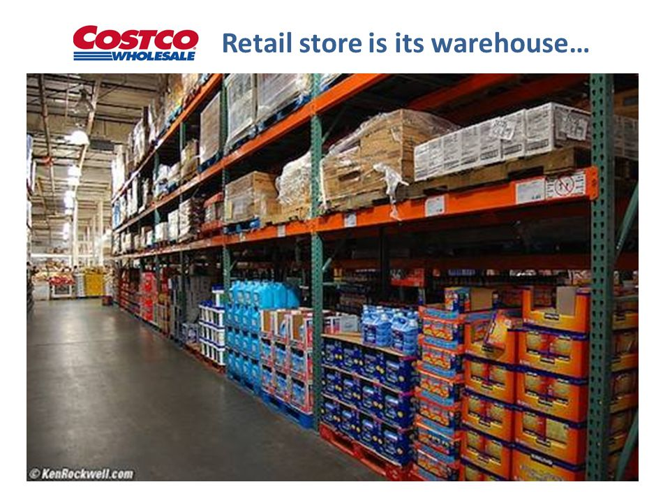 Retail store is its warehouse…