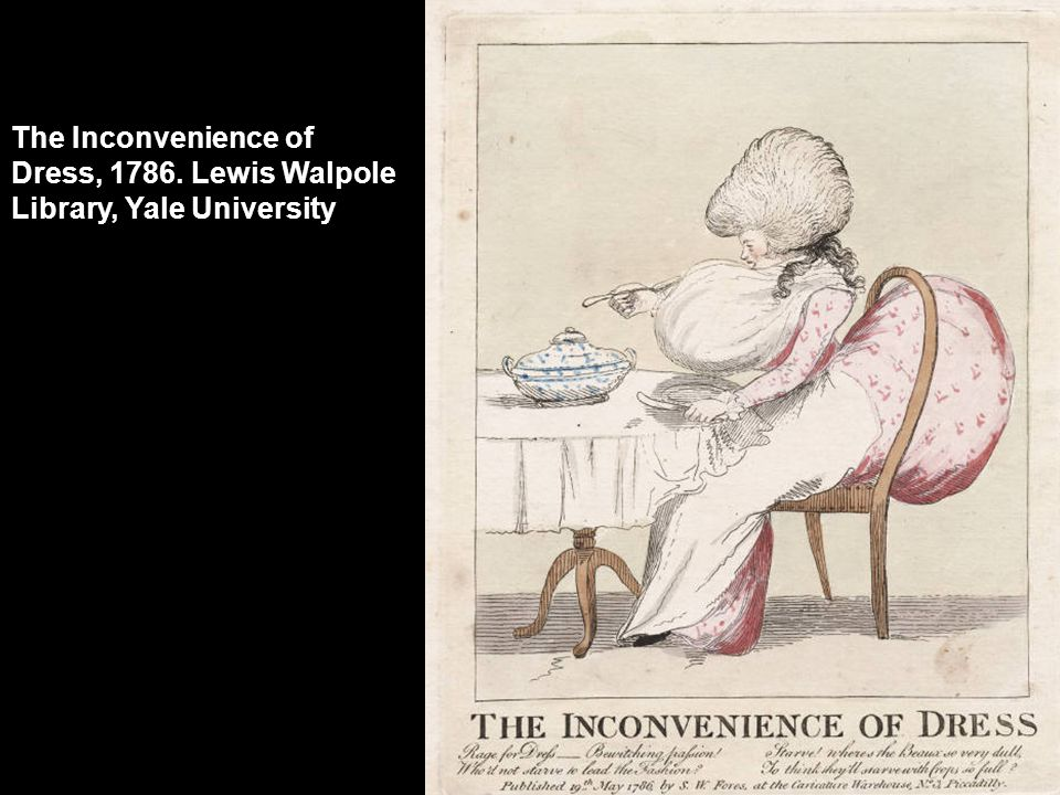 The Inconvenience of Dress, 1786. Lewis Walpole Library, Yale University
