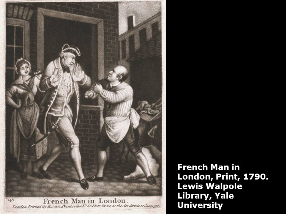 French Man in London, Print, 1790. Lewis Walpole Library, Yale University