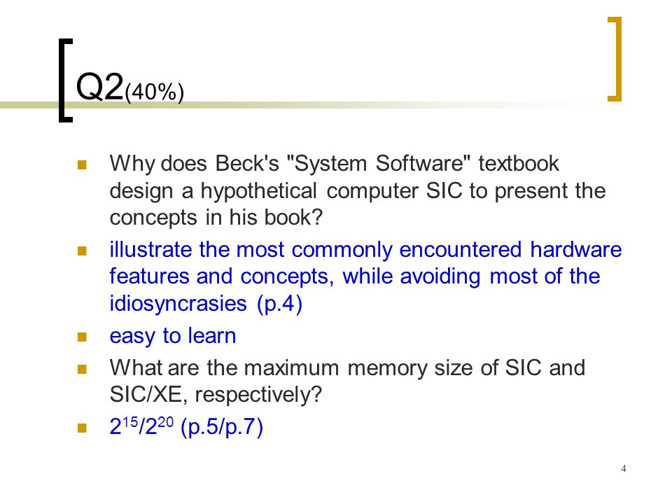 15 Q5 (10%) Disassemble (convert object code back into assembly language) the following SIC program.