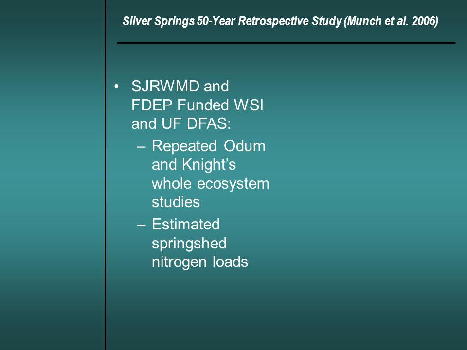 Silver Springs 50-Year Retrospective Study (Munch et al.