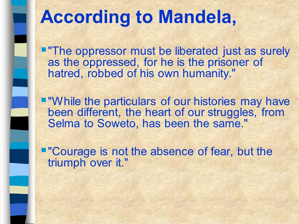 Nelson Mandela Shaker of Trees Robben Island