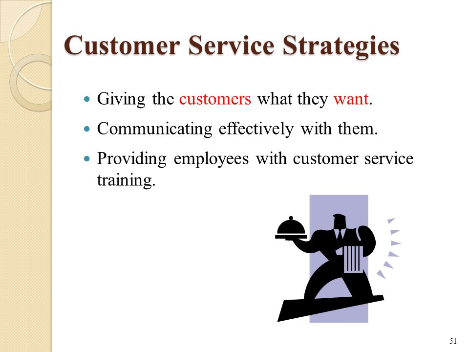 Customer Service Strategies Giving the customers what they want.