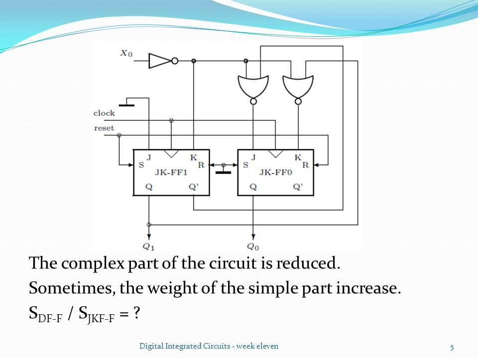The complex part of the circuit is reduced. Sometimes, the weight of the simple part increase.