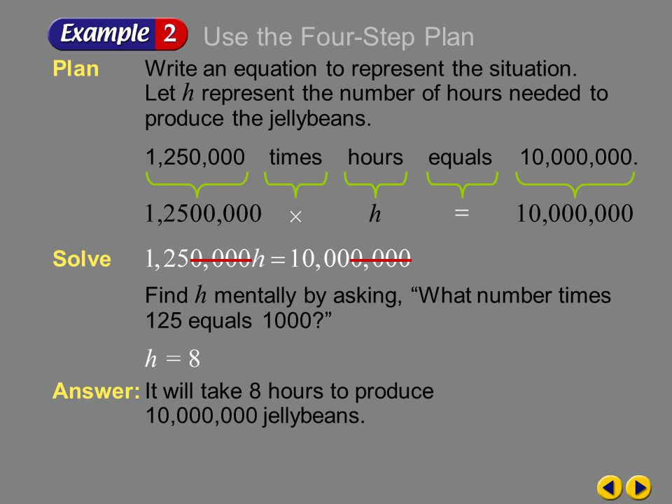 4( f + 1.50) – f = 8.25 Example 1-5a Write a problem based on the given information.