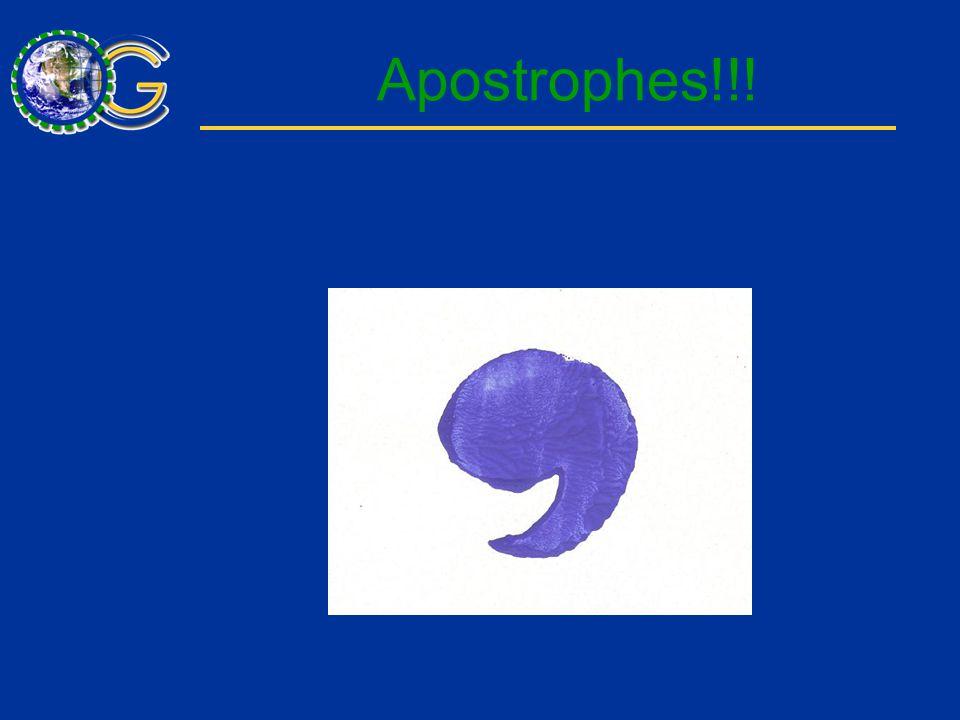 Apostrophes!!!