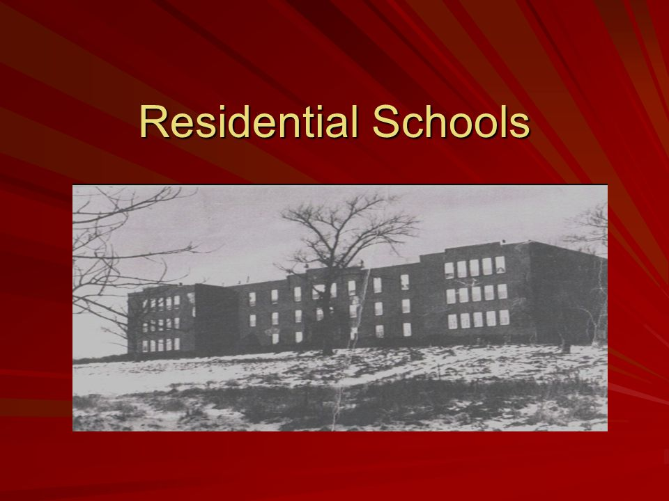 Questions - lets discuss 1.What were residential schools.
