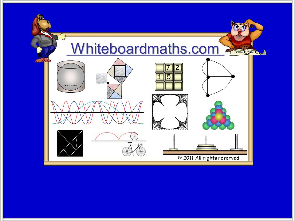 Whiteboardmaths.com © 2011 All rights reserved 5 7 2 1