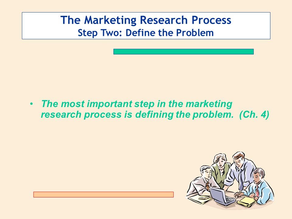 The Marketing Research Process Step Two: Define the Problem The most important step in the marketing research process is defining the problem.
