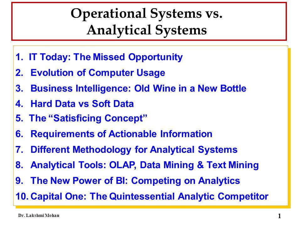 22 Dr.Lakshmi Mohan The Data Isn't Where We Need It .