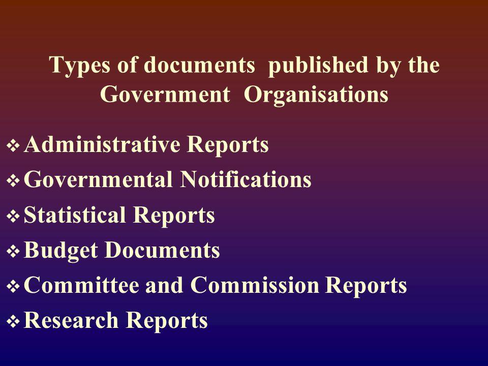 PROTOTYPES  ANNUAL REPORTS  GAZETTE DOCUMENTS