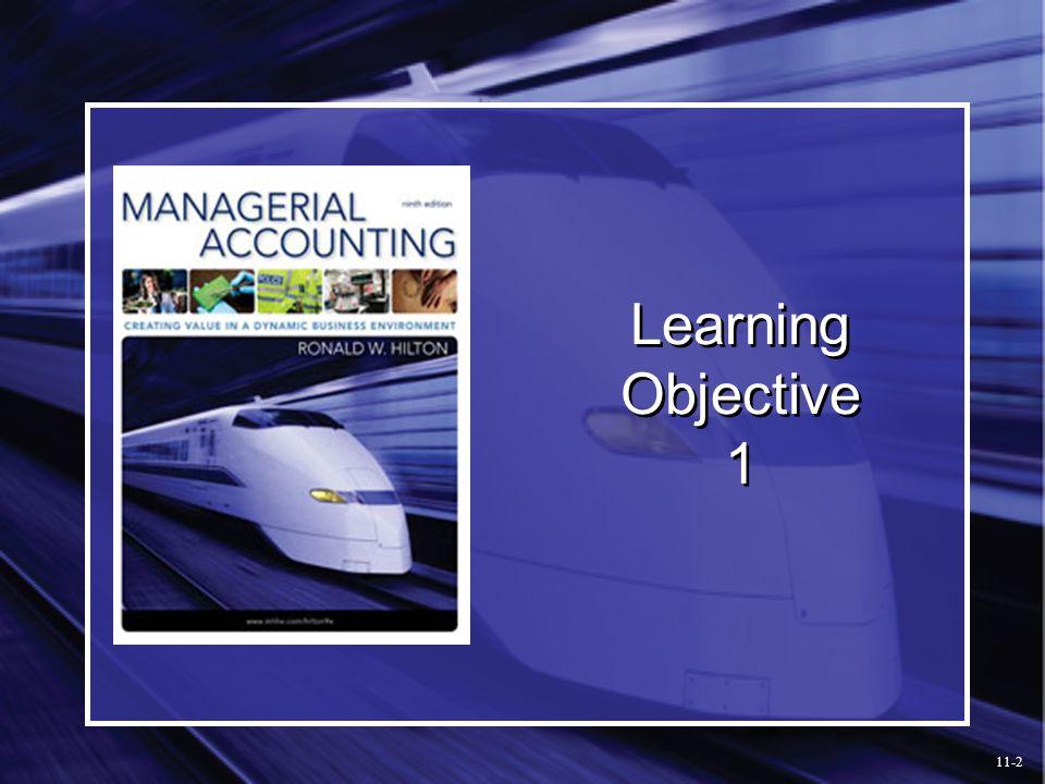 Preparing a Flexible Budget 11-13