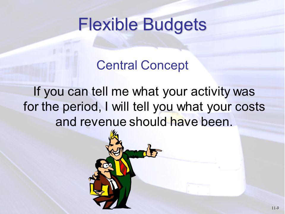 Advantages of Flexible Budgets Improve performance evaluation.