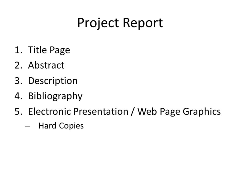 Rubric Project will count as one test grade (avg of 2 nd marking period tests) Abstract – 5 pts Present Technology – 10 History – 10 Future Technology – 20 Breakthroughs - 15 Design Process – 10 Consequences – 10 Bibliography – 5 Presentation – 15