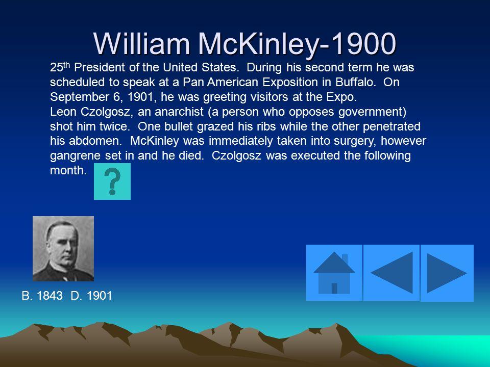 Warren Gamaliel Harding-1920 29 th President of the United States.