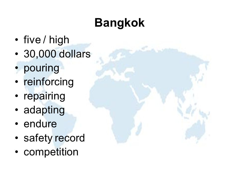 Bangkok five / high 30,000 dollars pouring reinforcing repairing adapting endure safety record competition