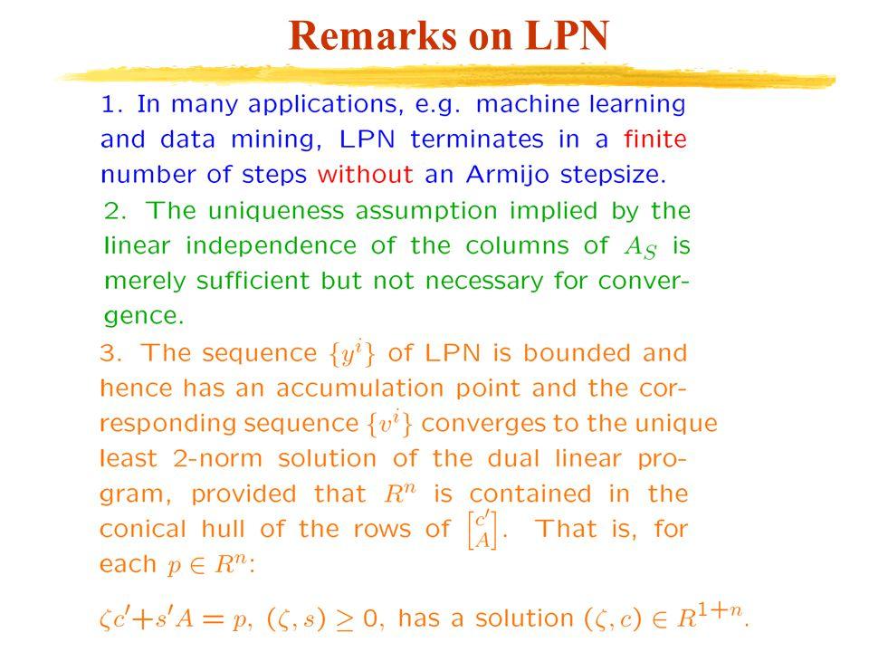 Remarks on LPN