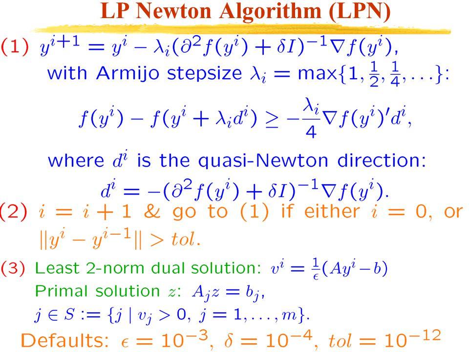 LP Newton Algorithm (LPN)