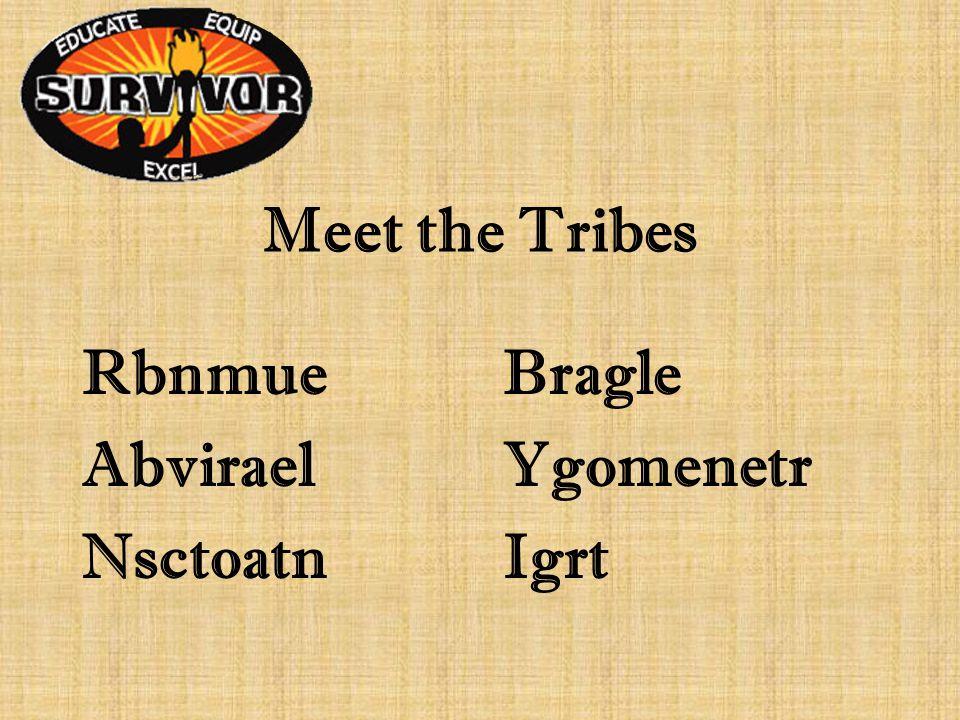 Meet the Tribes RbnmueBragle AbviraelYgomenetr NsctoatnIgrt