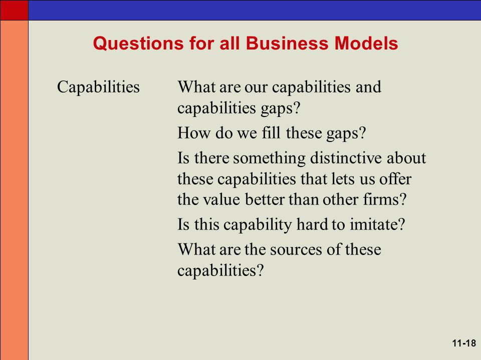 Questions Specific to E-Business Models Customer Value What is it about Internet technologies that allows us to offer customers something distinctive.