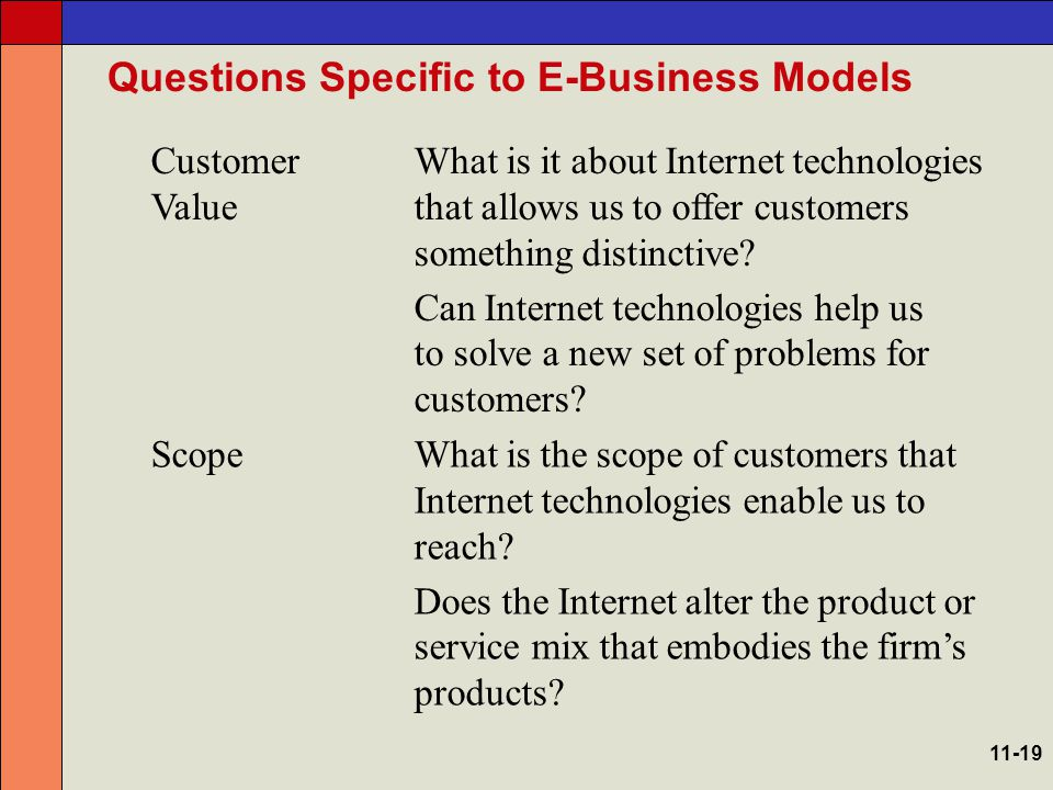 Questions Specific to E-Business Models PricingHow does the Internet make pricing different.