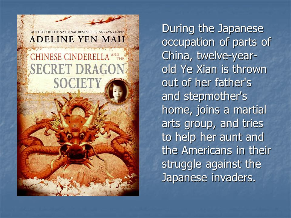 During the Japanese occupation of parts of China, twelve-year- old Ye Xian is thrown out of her father's and stepmother's home, joins a martial arts g