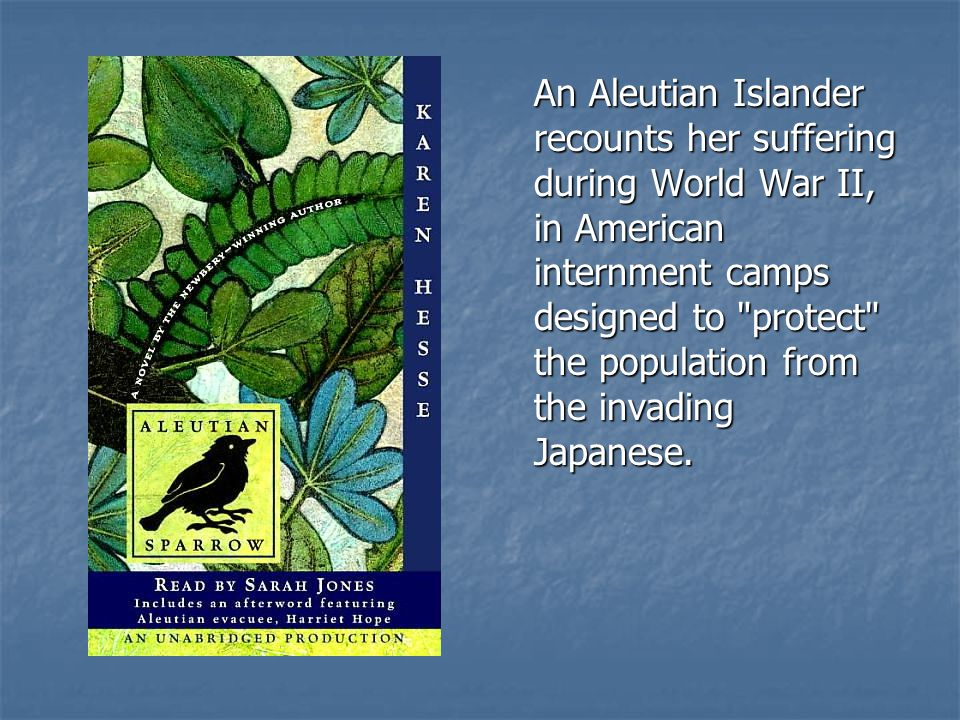 An Aleutian Islander recounts her suffering during World War II, in American internment camps designed to