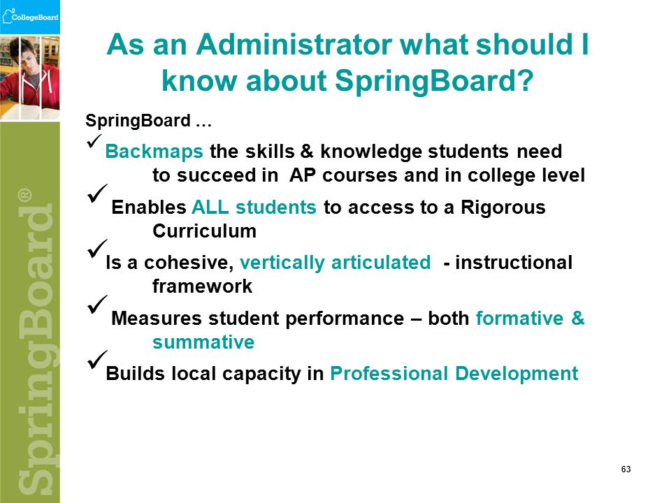 As an Administrator what should I know about SpringBoard.