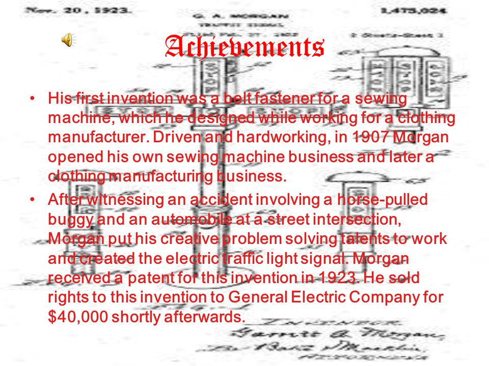Achievements His first invention was a belt fastener for a sewing machine, which he designed while working for a clothing manufacturer.