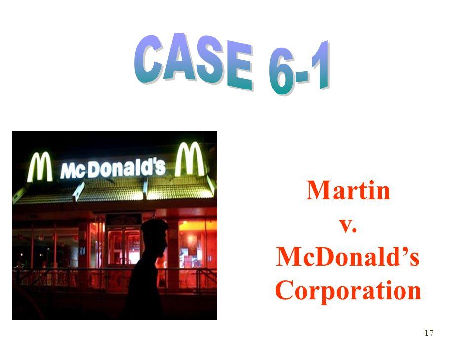 17 Martin v. McDonald's Corporation
