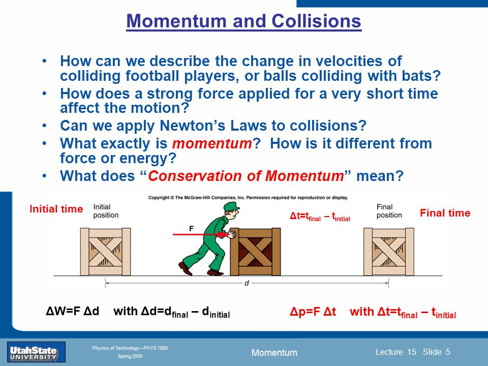 Momentum Introduction Section 0 Lecture 1 Slide 26 Lecture 15 Slide 26 INTRODUCTION TO Modern Physics PHYX 2710 Fall 2004 Physics of Technology—PHYS 1800 Spring 2009 How does a rocket accelerate in empty space when there is nothing to push against.