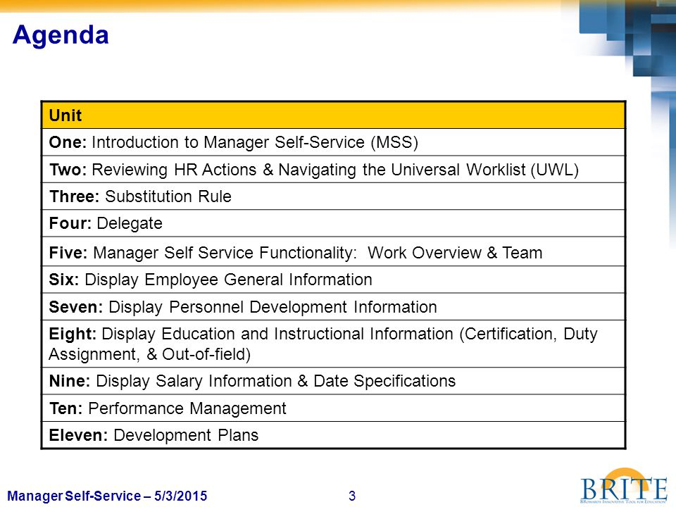 14Manager Self-Service – 5/3/2015 Reviewing HR Forms: Tasks 2 3 1 Do not use these buttons 4 5