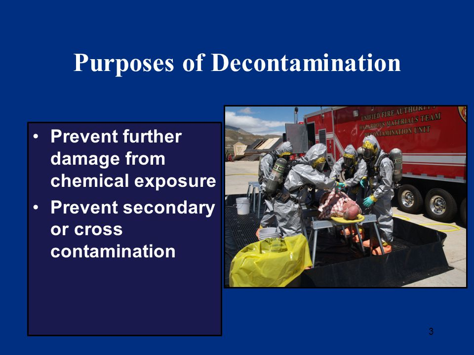 4 Module Organization Overview of decontamination concepts Current practices 3 case studies Special considerations