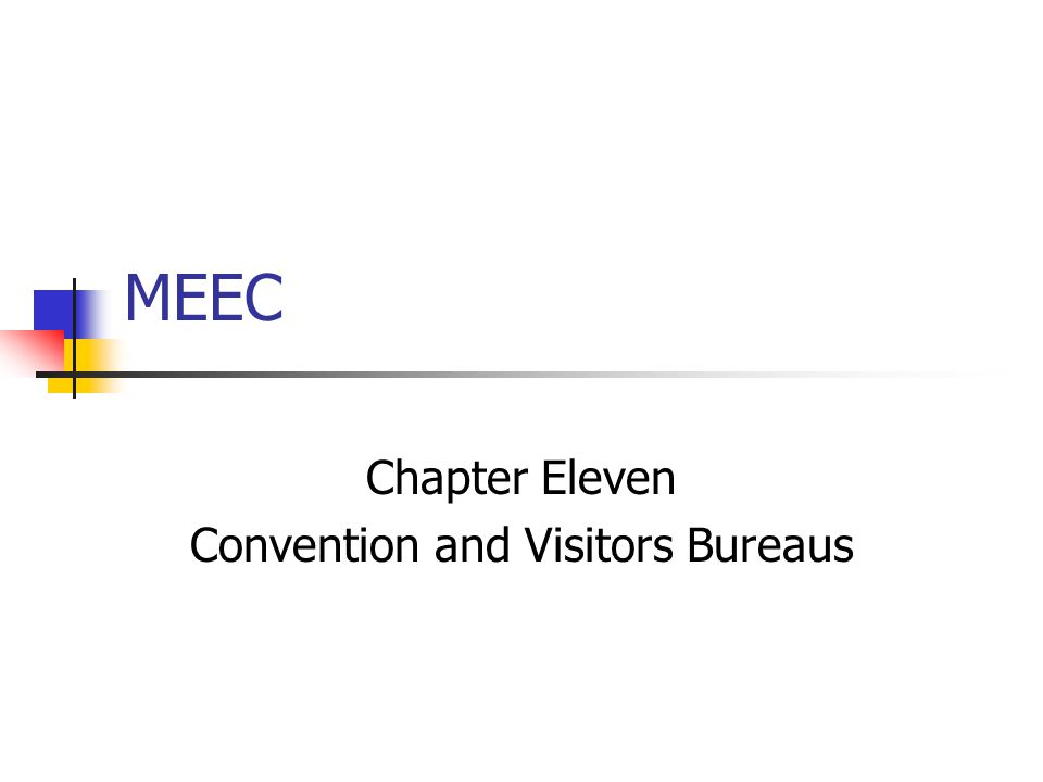 MEEC Chapter Eleven Convention and Visitors Bureaus