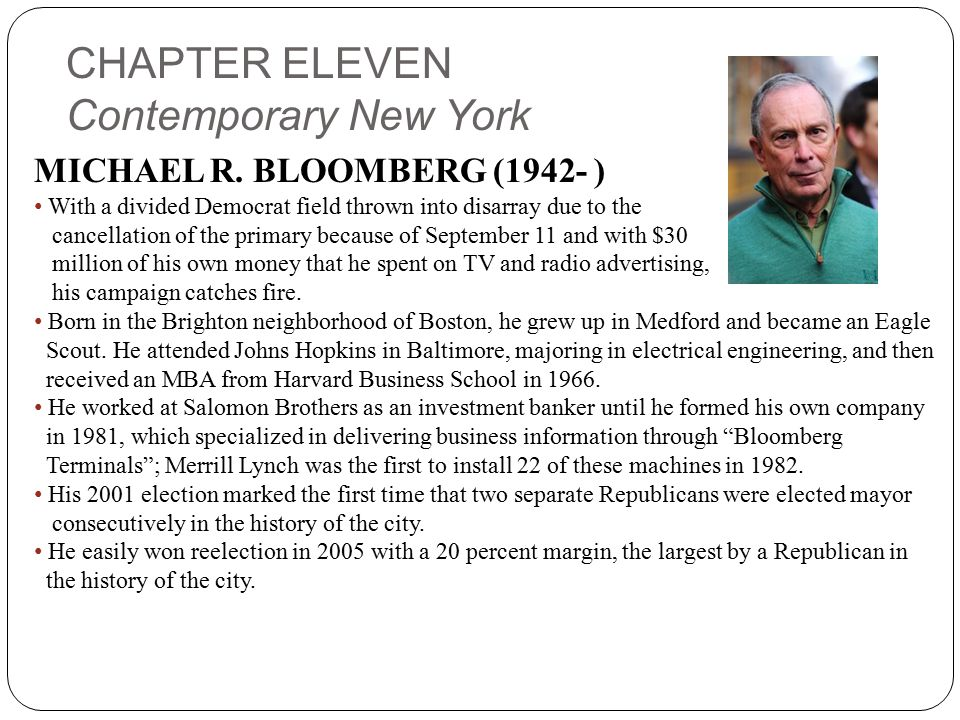 CHAPTER ELEVEN Contemporary New York MICHAEL R.