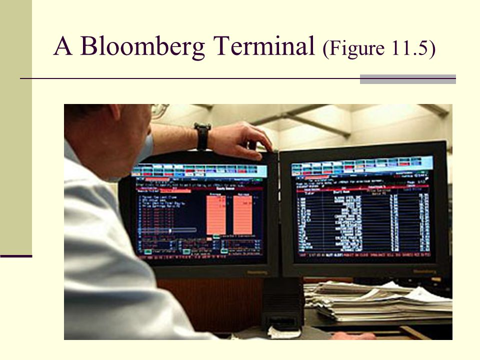 A Bloomberg Terminal (Figure 11.5)