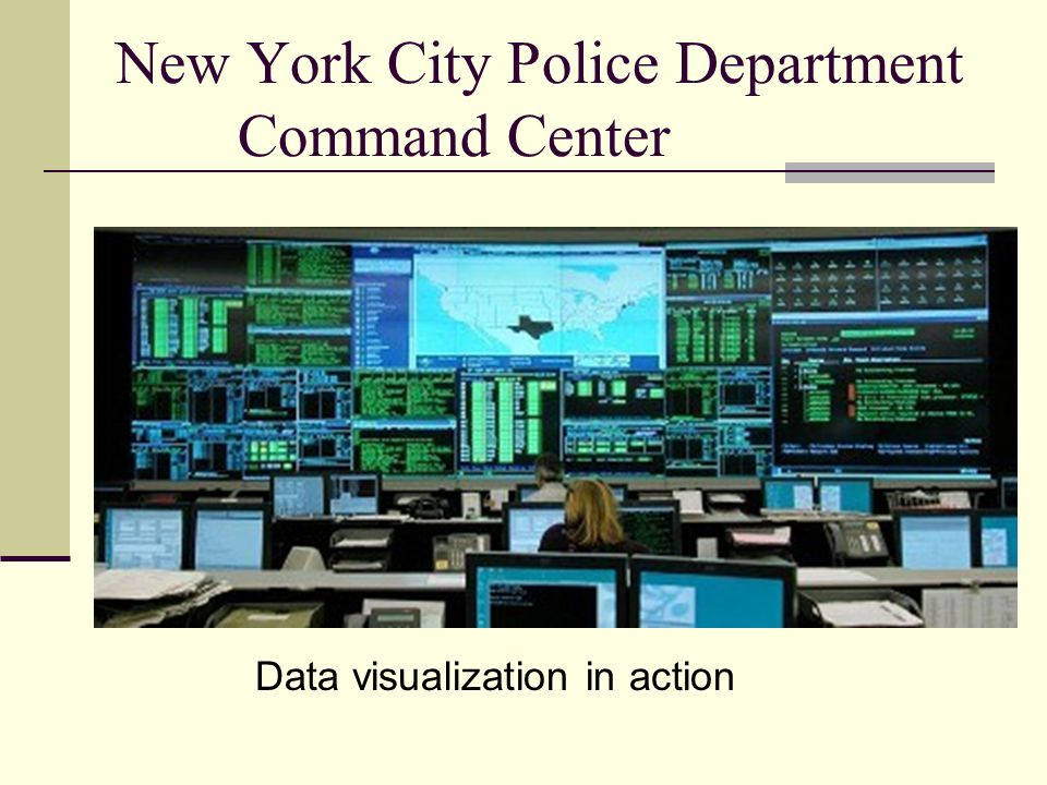 New York City Police Department Command Center Data visualization in action