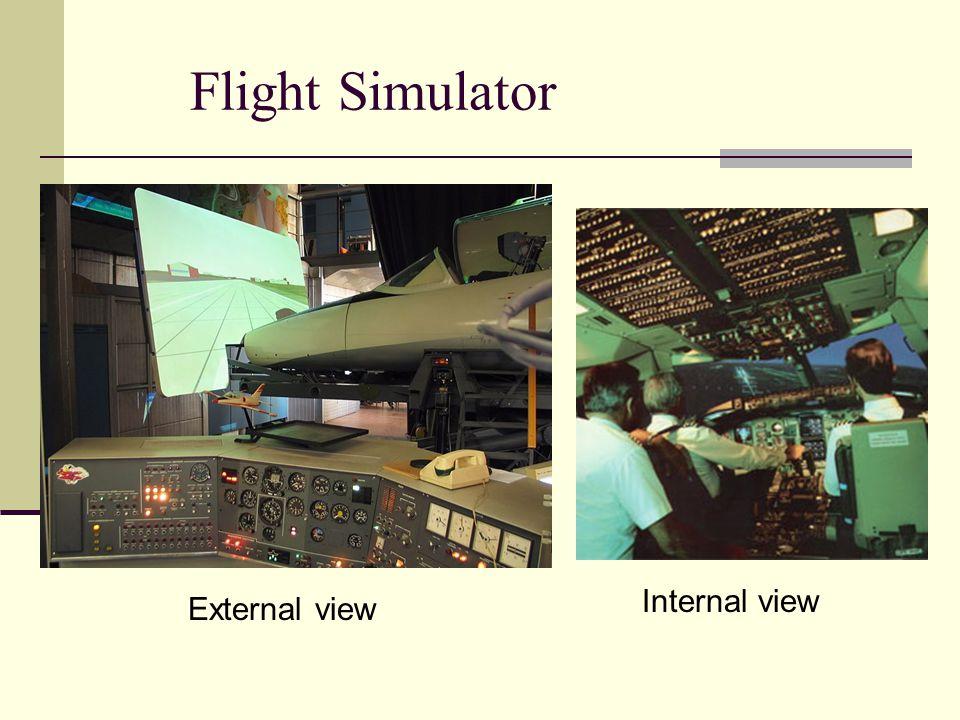 Flight Simulator External view Internal view