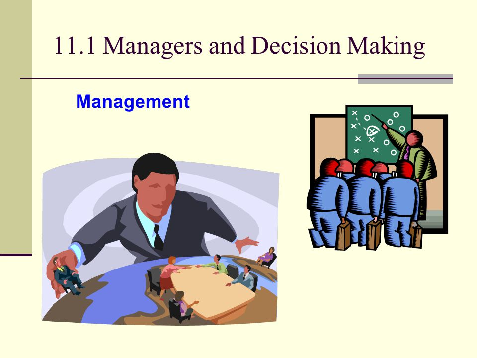 11.1 Managers and Decision Making Management