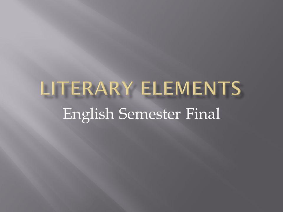 English Semester Final