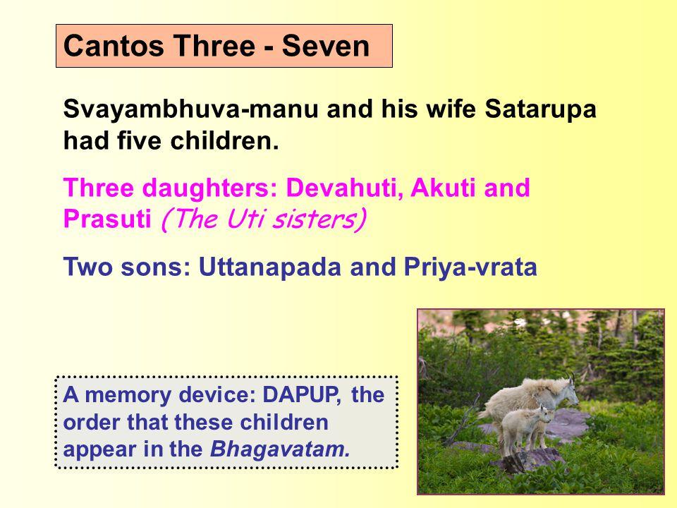 Svayambhuva-manu and his wife Satarupa had five children.