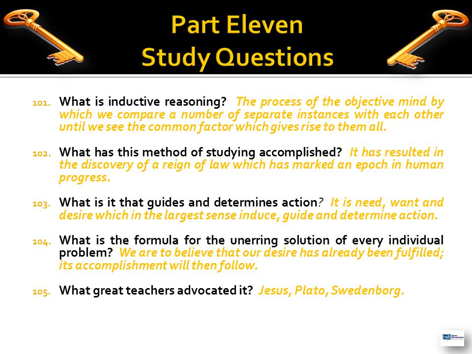 101.What is inductive reasoning.